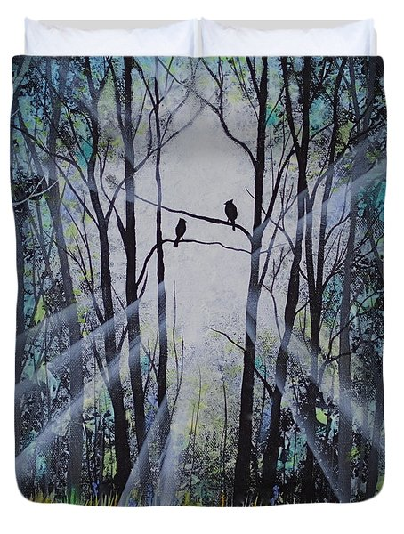 Forest Birds Duvet Cover