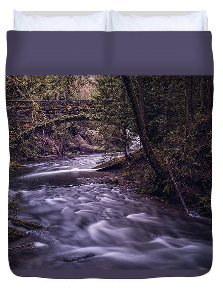 Duvet Cover featuring the photograph Forrest Bridge by Chris McKenna