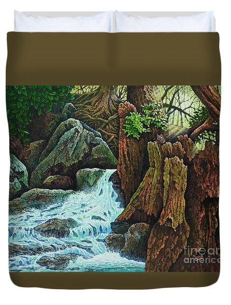 Forest Brook IIi Duvet Cover