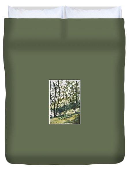 Forest By The Lake Duvet Cover by Manuela Constantin