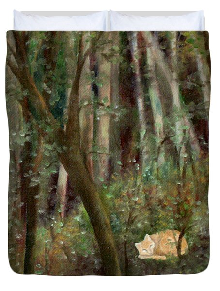 Forest Cat Duvet Cover