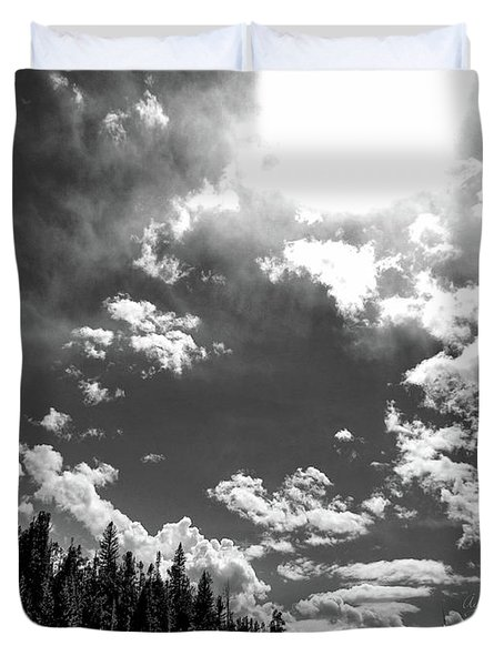 A New Day, Black And White Duvet Cover