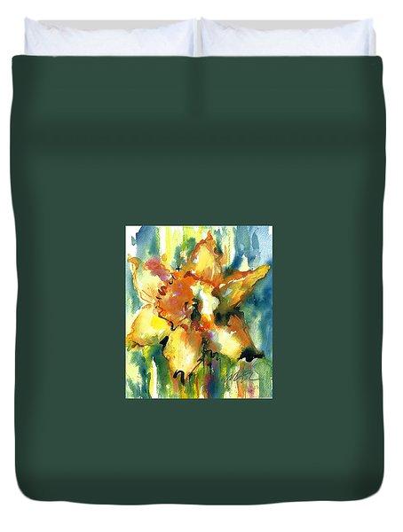 Forest Daffodil The Prayer Duvet Cover