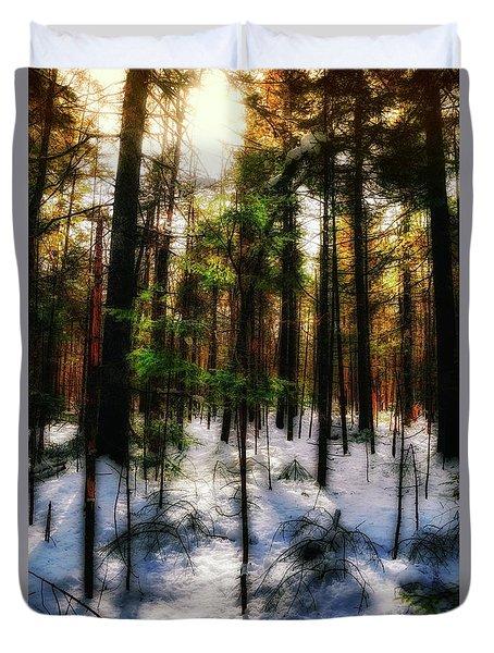 Forest Dawn Duvet Cover