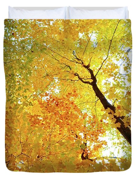 Forest Fall Yellow  Duvet Cover