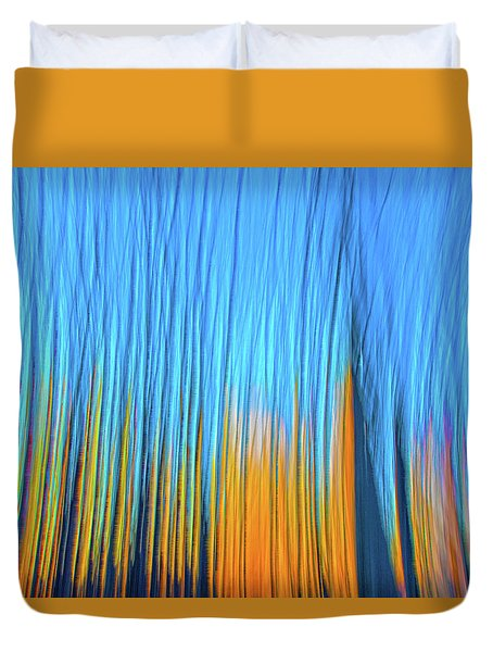 Duvet Cover featuring the photograph Forest Fire by Tony Beck