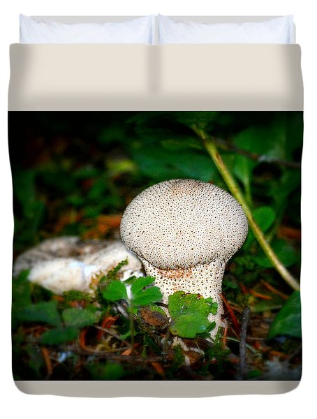 Forest Floor Mushroom Duvet Cover by Lori Seaman