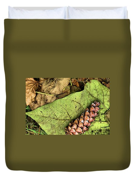 Forest Floor Still Life Duvet Cover