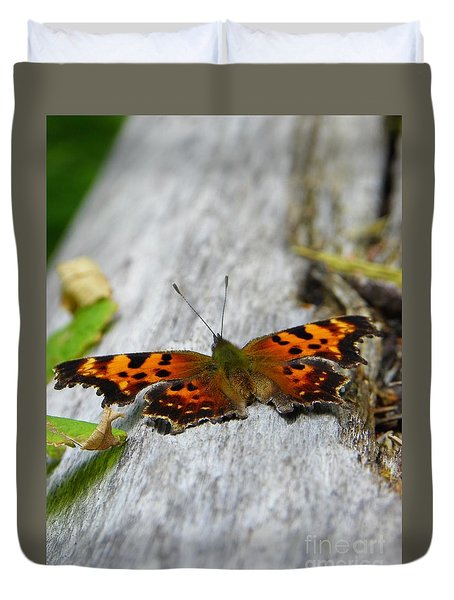 Forest Fritillary Duvet Cover by KD Johnson