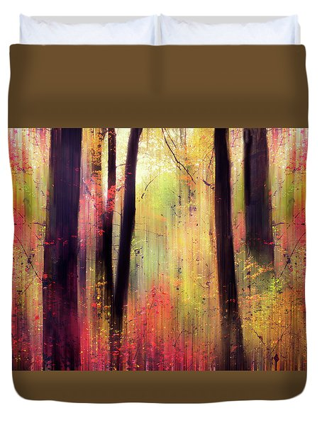 Duvet Cover featuring the photograph Forest Frolic by Jessica Jenney