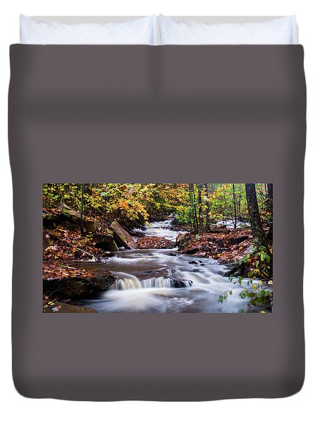 Duvet Cover featuring the photograph Forest Gem by Parker Cunningham