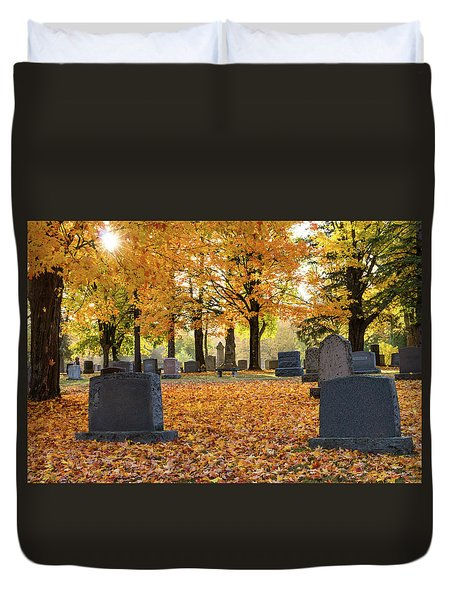 Forest Hill Autumn Morn Duvet Cover