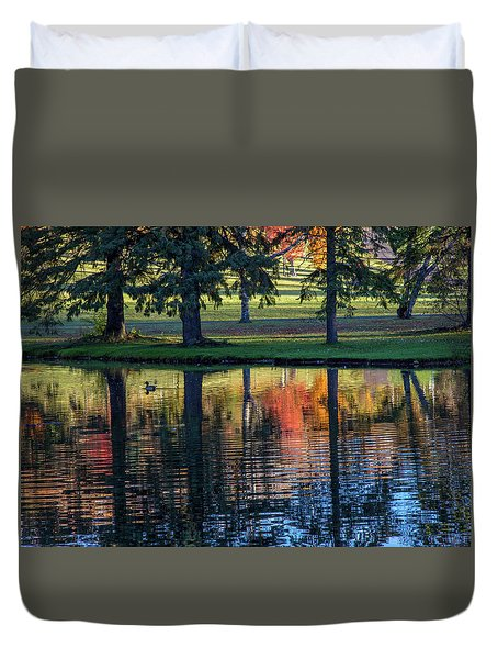 Forest Hill Reflections I Duvet Cover