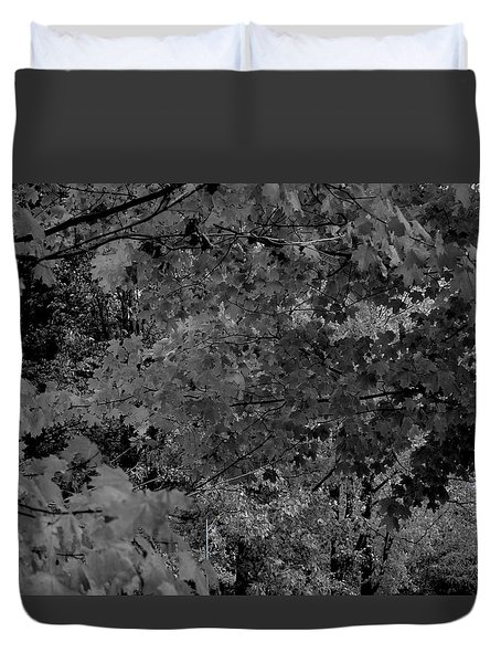 Duvet Cover featuring the photograph Forest Hut by Richard Ricci