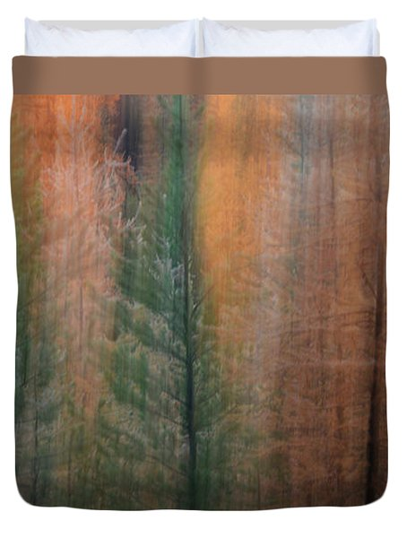 Forest Illusion- Autumn Born Duvet Cover