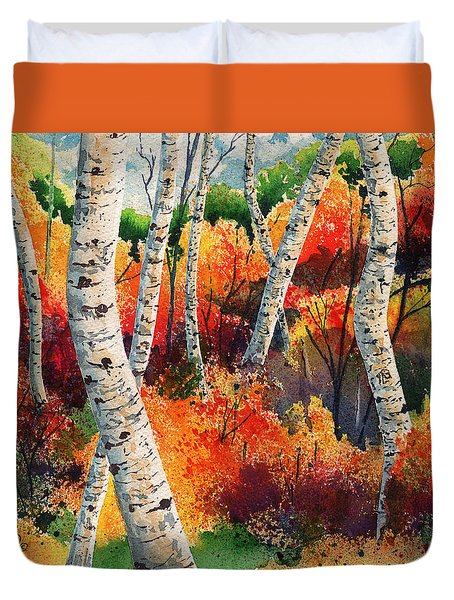 Forest In Color Duvet Cover