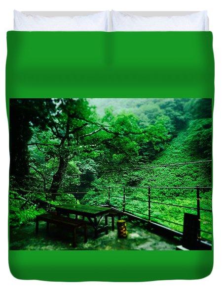 Forest In Rain, Japan Duvet Cover