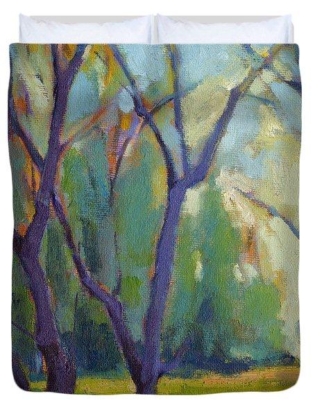 Forest In Spring Duvet Cover