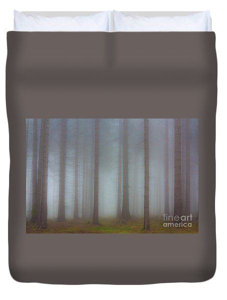 Forest In The Fog Duvet Cover by Michal Boubin