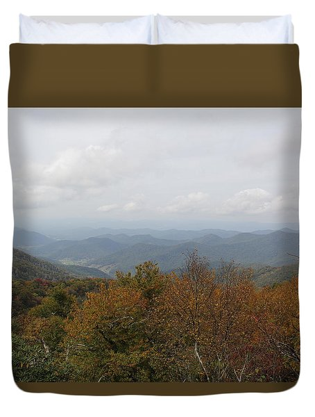 Forest Landscape View Duvet Cover