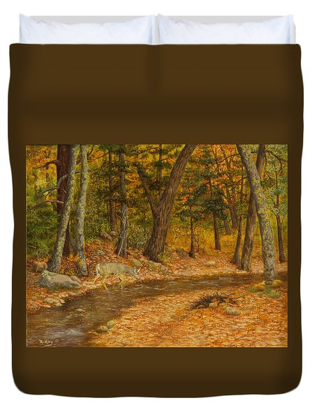 Forest Life Duvet Cover by Roena King