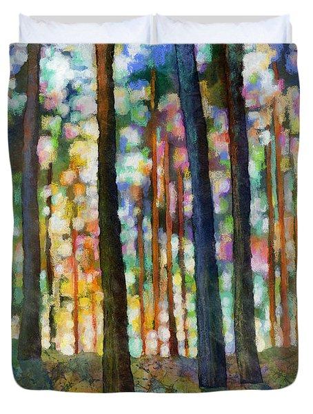 Forest Light Duvet Cover