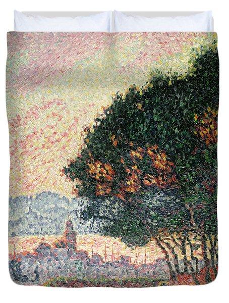 Forest Near St Tropez Duvet Cover by Paul Signac