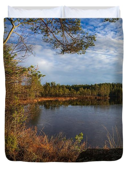Duvet Cover featuring the photograph Forest Of The Finns by Rose-Maries Pictures