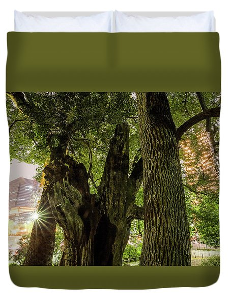 Duvet Cover featuring the photograph Forest Of Tokyo by Tatsuya Atarashi