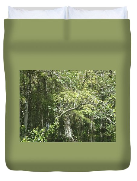 Forest On A Swamp Duvet Cover