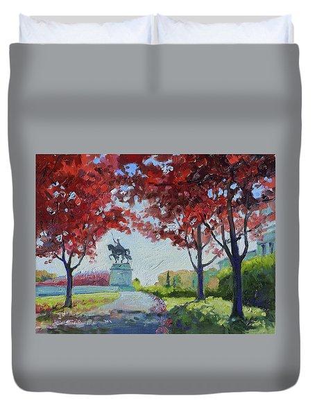 Forest Park Autumn Colors Duvet Cover