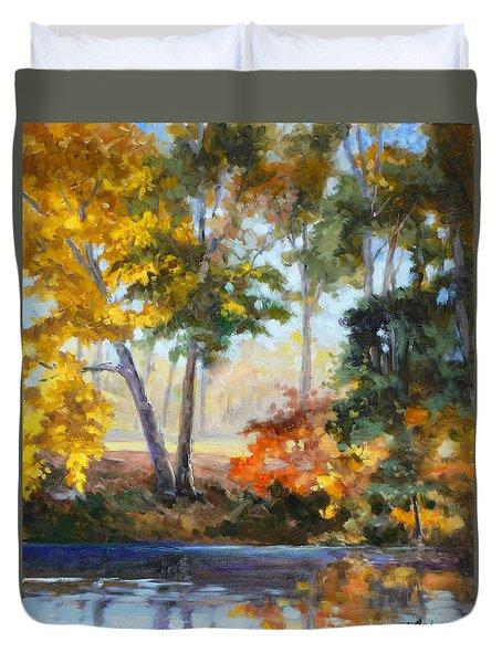 Forest Park - Autumn Reflections Duvet Cover
