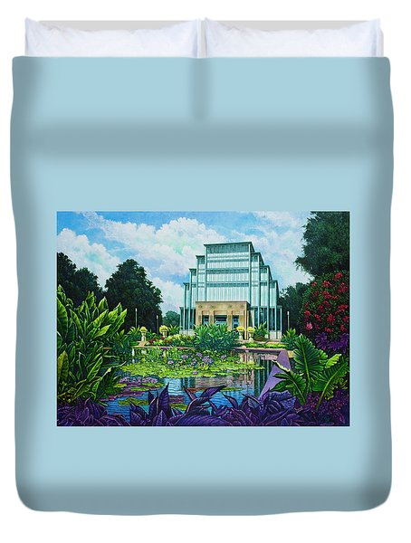 Forest Park Jewel Box Duvet Cover by Michael Frank