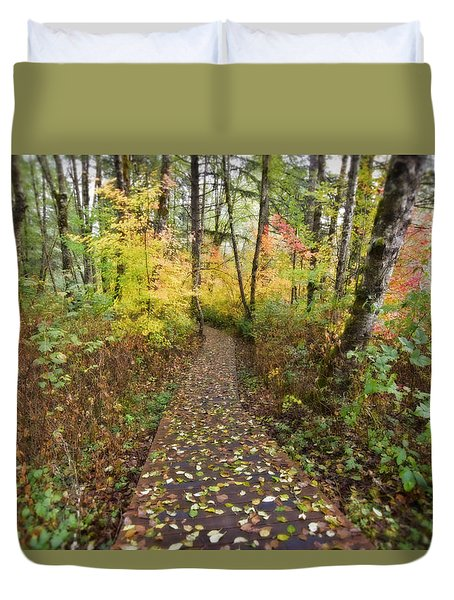 Forest Path Duvet Cover by Bonnie Bruno