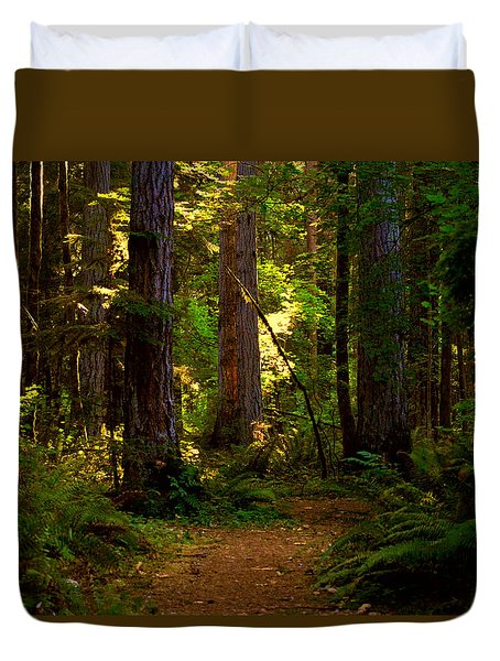 Forest Path Duvet Cover by Lori Seaman
