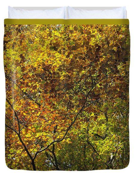 Forest Pattern Duvet Cover by Yuri Santin