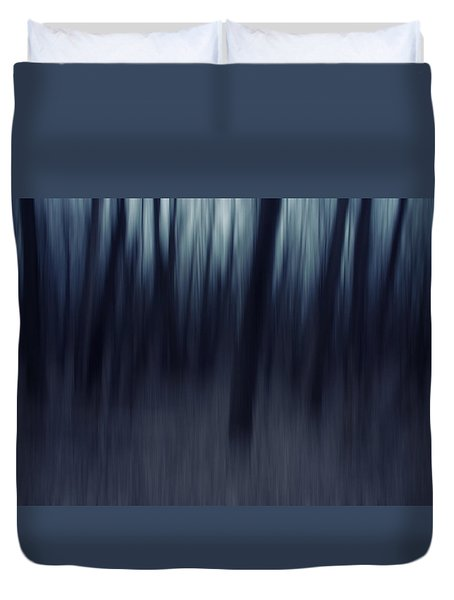 Forest Pitch Dark Duvet Cover