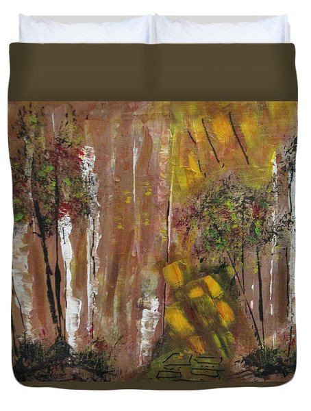 Forest Primeval Duvet Cover by Sharyn Winters