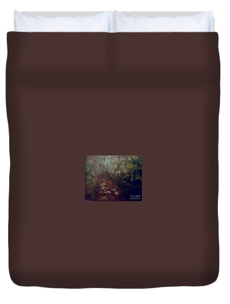Forest Rays Duvet Cover