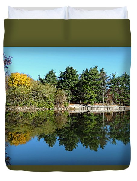 Forest Reflections Duvet Cover by Teresa Schomig