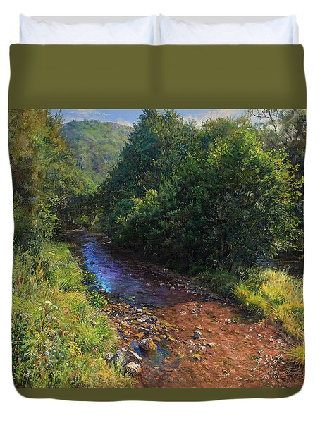 Forest River Summer Day Duvet Cover