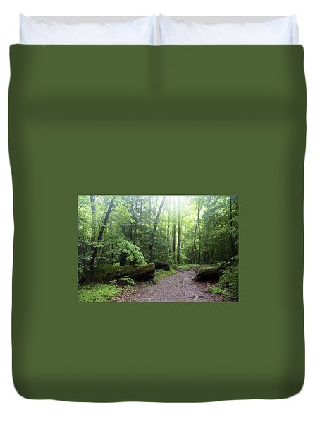 Forest Setting Smoky Mountains National Park Duvet Cover