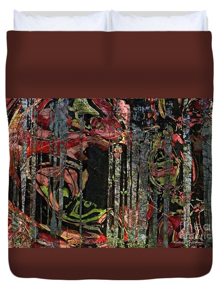 Duvet Cover featuring the photograph Forest Spirits by Kathie Chicoine
