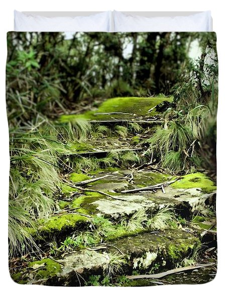Forest Stairway Duvet Cover by Wallaroo Images