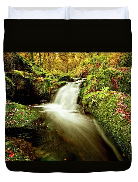 Forest Stream Duvet Cover by Jorge Maia