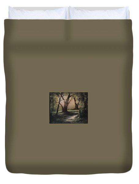 Forest Stream  Duvet Cover