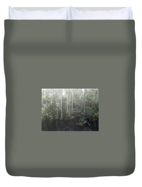Forest, Sun Swamp Duvet Cover