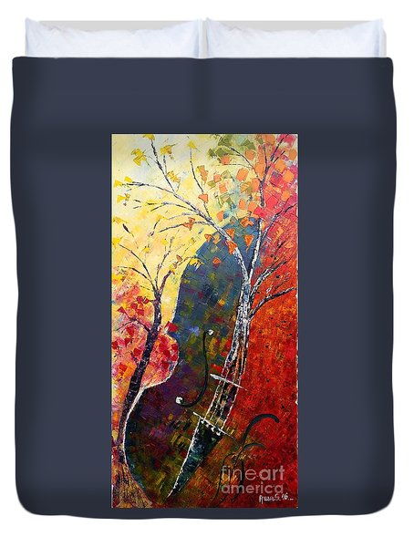 Forest Symphony Duvet Cover by AmaS Art