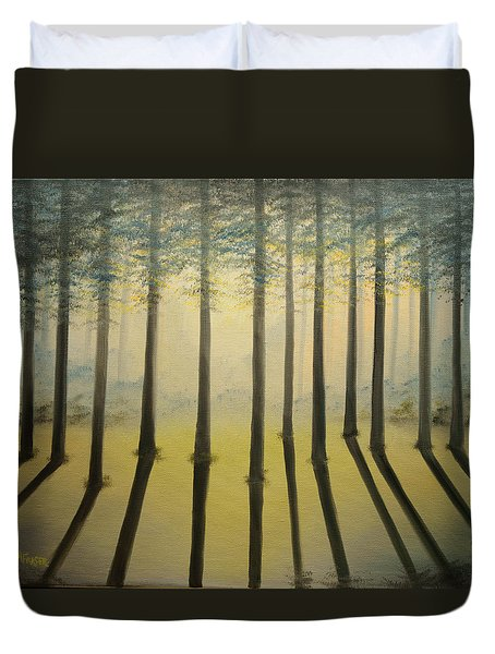 Forest Thru The Trees II Duvet Cover