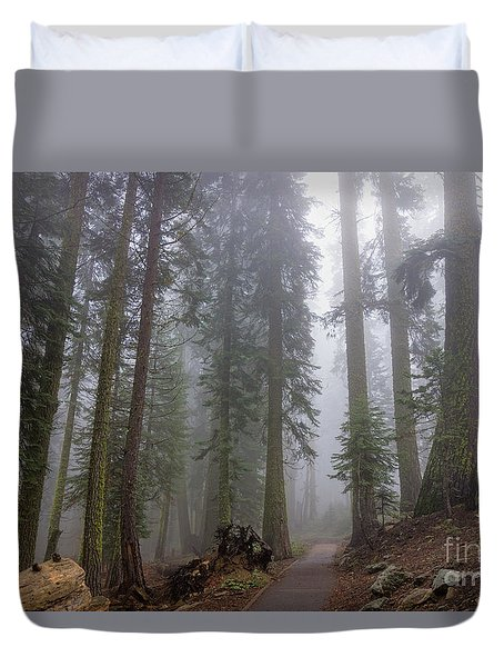Duvet Cover featuring the photograph Forest Walking Path by Peggy Hughes
